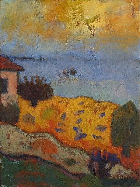 Yasharel Manzy, August in Southern Italy 2017, oil on canvas