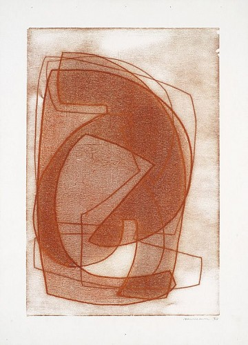 Exhibition: Salon Style, Work: Otto Neumann Multi Color Orange Abstract I, 1970
