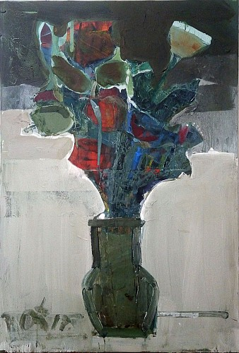Serhiy Hai - Green Vase with Flowers, 2017