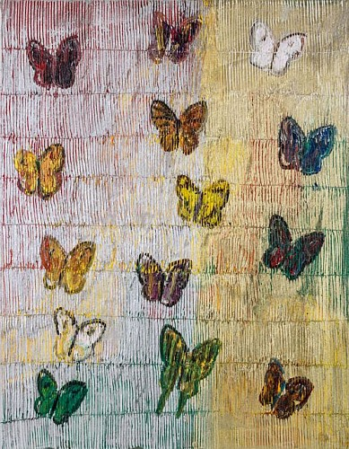 Exhibition: Hunt Slonem, Work: Butterflies, 2017