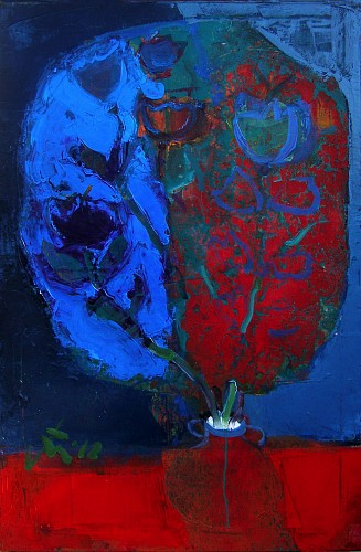 Serhiy Hai - Blue & Red Flowers, 2012