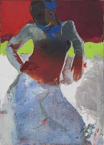 Serhiy Hai - Nude with Transparent Red Top, 2013
