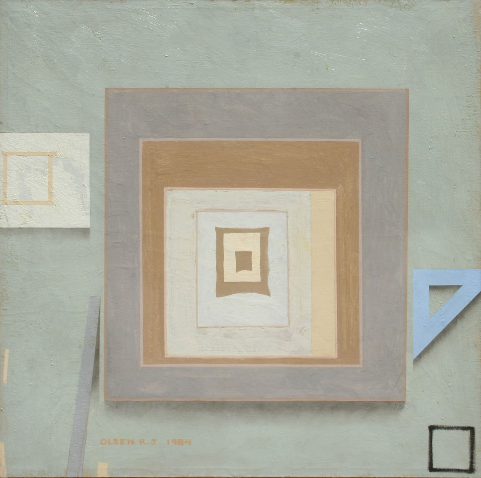 Richard Olsen ,   Wall XXlV (24)  ,  1984     oil on linen ,  38 x 38 in. (96.5 x 96.5 cm)     RO 29     Price Upon Request