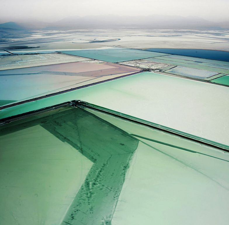 David Burdeny ,   Saltern Study 09, Great Salt Lake, UT  ,  2015     Archival pigment print ,  54