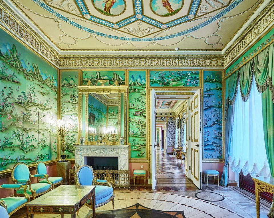 David Burdeny ,   Blue Drawing Room, Catherine Palace, Pushkin, RUS  ,  2014     Archival pigment print ,  44