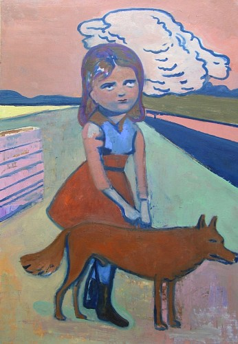 Exhibition: Art & Gift Extravaganza, Work: Stephanus Heidacker Girl with Dog, 2012
