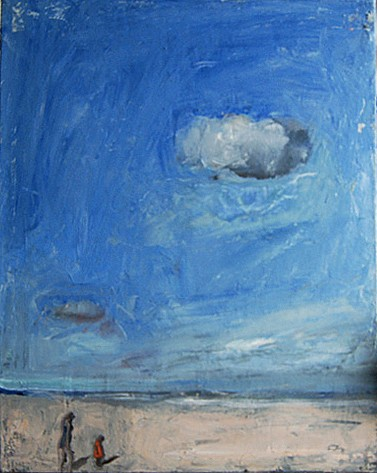 Chuck Bowdish ,   Clouds on The Beach  ,  2012     oil on canvas ,  16