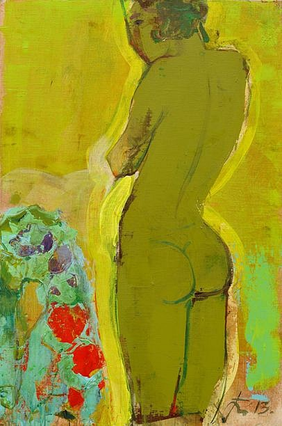 Serhiy Hai ,   Standing Green Nude  ,  2013     47.2