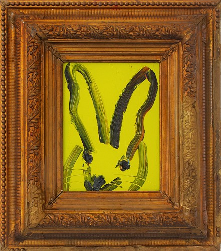 Exhibition: Hunt Slonem, Work: Untitled /Lime Yellow Bunny, 2018