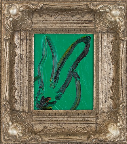 Exhibition: Hunt Slonem, Work: Untitled /Dark Green Bunny, 2018