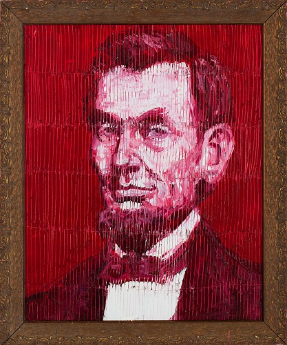 Hunt Slonem - Red Lincoln, 2018