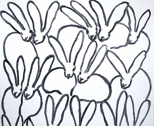 Exhibition: Hunt Slonem, Work: Untitled/ Black & White Bunnies, 2018