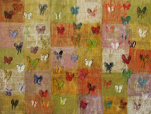 Exhibition: Hunt Slonem, Work: Untitled/ Multi Colored Butterflies, 2015