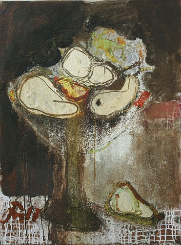 Serhiy Hai - Abstract Still Life with Fruit, 2017