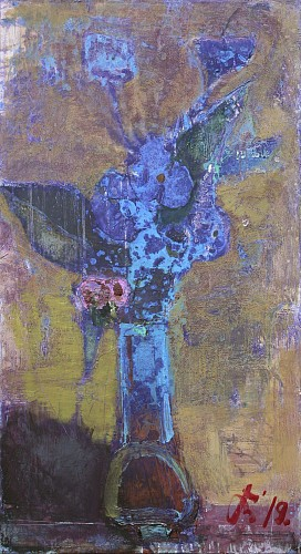 Exhibition: Serhiy Hai - New Paintings, Work: Still Life Flowers, Purple & Blue, 2019