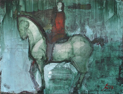 Exhibition: Serhiy Hai - New Paintings, Work: Redjacket Rider, 2016