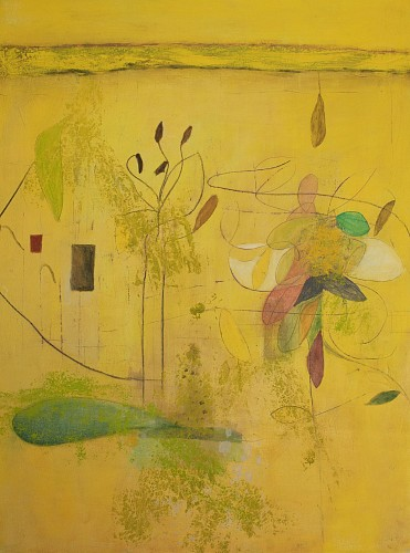 Exhibition: Helen DeRamus: New Paintings, Work: The Boom In Yellow, 2019