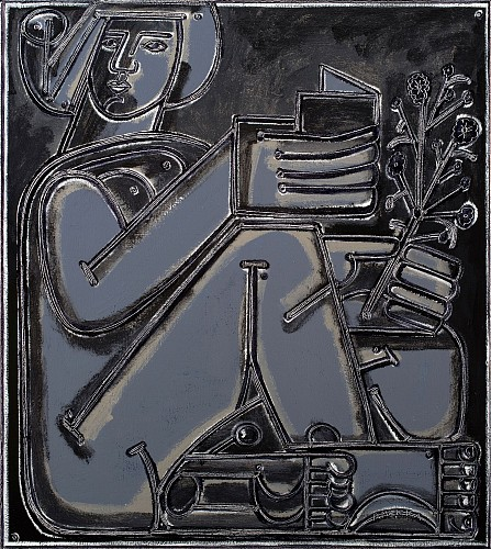 <i>Woman with Book & Branch</i>, 2019
