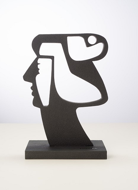 America Martin ,   Portrait of Woman in Stone,  Edition 1 of 1  ,  2020     Black marble, sandblasted ,  28 x 24 in. (71.1 x 59.7 cm)     ACM 317     Sold