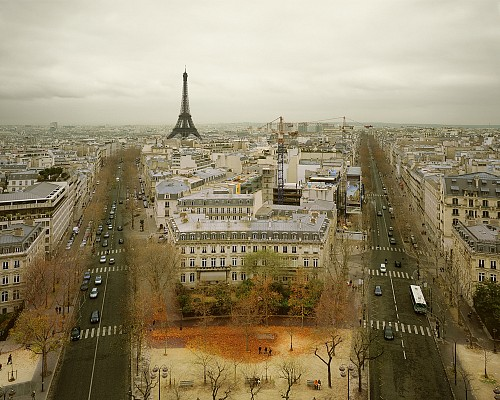 Exhibition: David Burdeny - Travels, Work: Paris from the Arc de Triumph, Paris, 2010