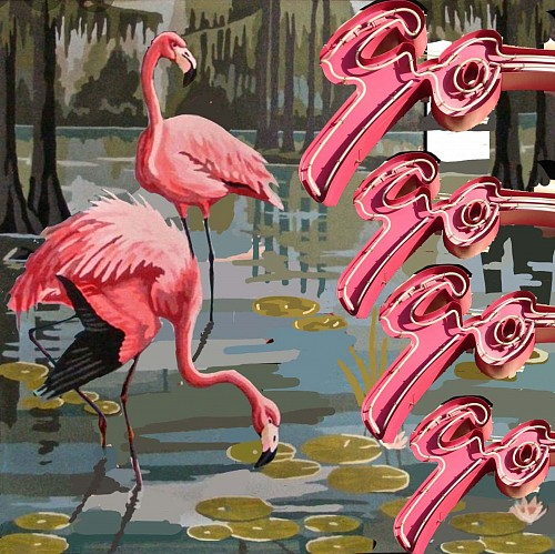 Exhibition: The Mysterious World: Charles Keiger, Steve Moors, Melissa Sims &  Mario Soria, Work: Melissa Sims Flamingo-go-go-go, 2021